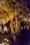 Luray Caverns, Virginia. This is an image of Luray caverns in Virginia with stalactites above Stock Images