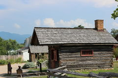 Luray Valley Black Smith Cabin Virginia arkivbilder