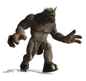 Lurching Troll. A gigantic lurching troll is looking for prey - 3D render Stock Photos