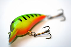 Lure. A colorful lure and a white background Royalty Free Stock Images