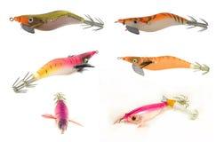 Lure fishing. Imitation lure for sea squid or calamari fishing Stock Image
