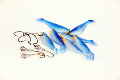 The hook and Fishing lure. Royalty Free Stock Image