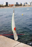 Lure and hook Royalty Free Stock Image
