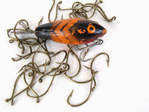 Lure and Hooks Royalty Free Stock Photo