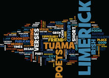 The Lure Of The Limerick Text Background Word Cloud Concept Royalty Free Stock Photos