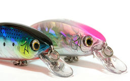 Lures. Fishing lures for sport fishing Royalty Free Stock Photos