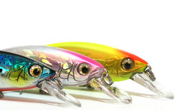 Lures. Fishing lures for sport fishing Stock Photos
