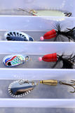 Lures in closeup Royalty Free Stock Photo