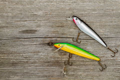 Lures for pike fishing Royalty Free Stock Image