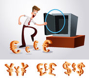 Luring money Stock Image