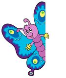 Lurking cartoon butterfly Stock Photo