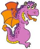 Lurking dragon. On white background -  illustration Stock Image
