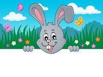 Lurking Easter bunny topic image 2 Royalty Free Stock Photos