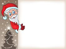 Lurking Santa Claus with copyspace 5 Stock Photos