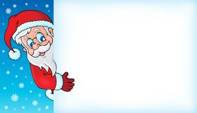 Lurking Santa Claus with copyspace 4 Royalty Free Stock Photo