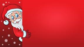 Lurking Santa Claus with copyspace 1 Stock Photos