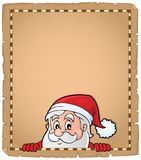 Lurking Santa Claus topic parchment 2. Eps10 vector illustration Royalty Free Stock Image