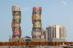 Lusail Marina Twin Tower in Doha lizenzfreie stockbilder