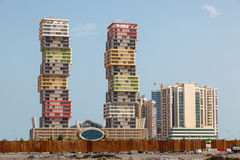 Lusail Marina Twin Tower in Doha Royalty Free Stock Images