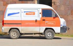 LUSARAT, ΑΡΜΕΝΙΑ - 12 ΟΚΤΩΒΡΊΟΥ 2016: Αυτοκίνητο Haypost Στοκ φωτογραφία με δικαίωμα ελεύθερης χρήσης