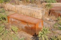 LUSARAT, АРМЕНИЯ - 12-ОЕ ОКТЯБРЯ 2016: Старые могилы в армянском кладбище Стоковая Фотография RF