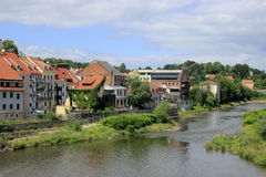 Lusatian Neisse river in Görlitz. Lusatian Neisse river in Görlitz, Germany royalty free stock photography