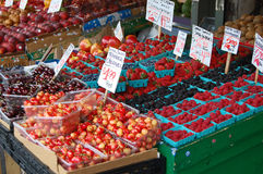Luscious cherries and berries Stock Photos