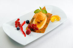 Luscious dessert on a plate Stock Images