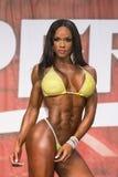 Luscious Pro Bikini Beauty. Voluptuous, luscious pro bikini competitor Eboney Stock Image
