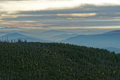 Lusen Sunrise. Sunrise on the mountain Lusen in the Bavarian Forest National Park royalty free stock images