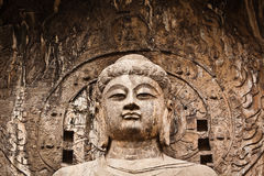 Lusena Buddha. Nishyandabody Buddha [lushena or Lusena]  in Longmen Grottoes, luoyang china. It was  Built in 675 AD Tang Dynasty, It is said that it was after Royalty Free Stock Photos
