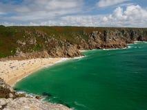 Porthcuno Beach royalty free stock image