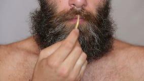 Lush Beard and Mustache stock footage