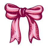 Lush bow. Vector drawing Stock Photography