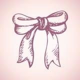 Lush bow. Vector drawing Stock Photo