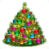 Lush Christmas tree image. Illustration for your design royalty free illustration