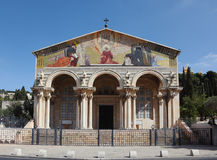 Lush facade of the Church of All Saints Stock Images