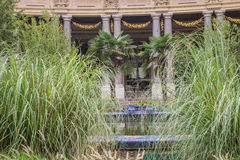 Lush gardens in the courtyard of the Petit Palais, Paris, France Stock Image