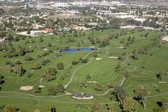 Lush golf course in the desert Stock Photos