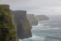Lush Grass at Cliffs of Moher in Ireland Stock Photos