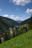 Lush green alpine valley Royalty Free Stock Image