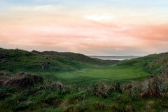 Lush green Ballybunion links golf course