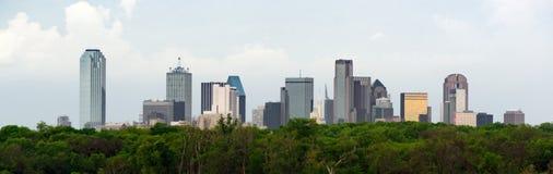Dramatic Sky Over Downtown Houston Texas City Skyline royalty free stock image