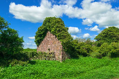 Lush Green Coutryside Old Stone Structure Stock Photos