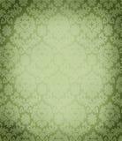 Lush green damask pattern wallpaper texture Stock Images