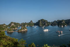 Lush Green Hills in Ha Long Bay Royalty Free Stock Photography
