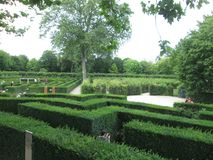 lush green labyrinth park in Vienna royalty free stock image