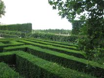 lush green labyrinth park in Vienna stock image