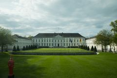 Lush green lawns in front of Schloss Bellevue Royalty Free Stock Photo