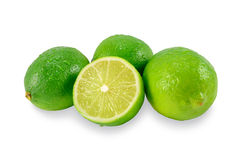 Lush green limes and a half Stock Photos